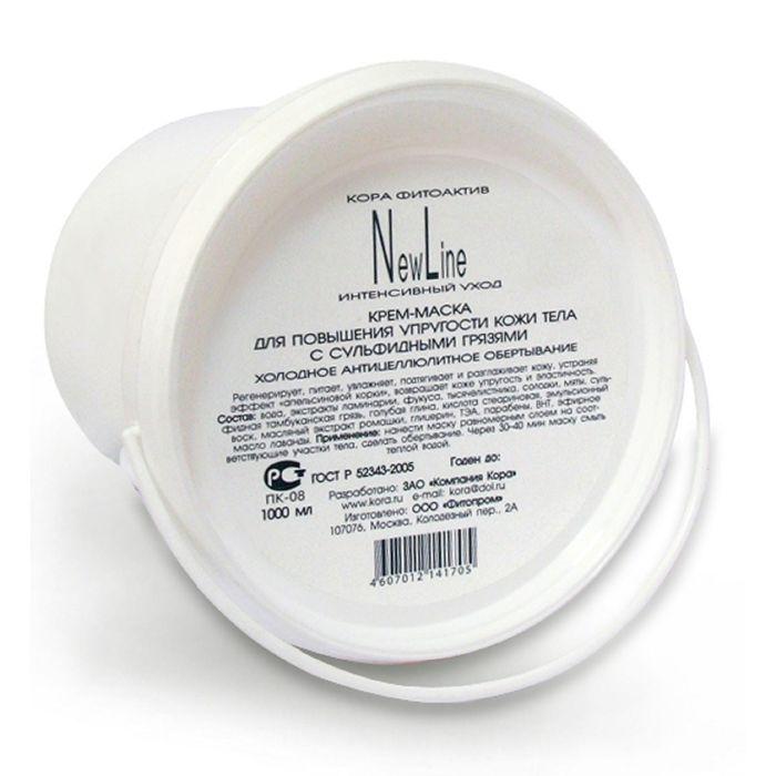 Крем-маска Kora для повышения упругости кожи тела, грязевое антицеллюлитное обертывание, 1 л