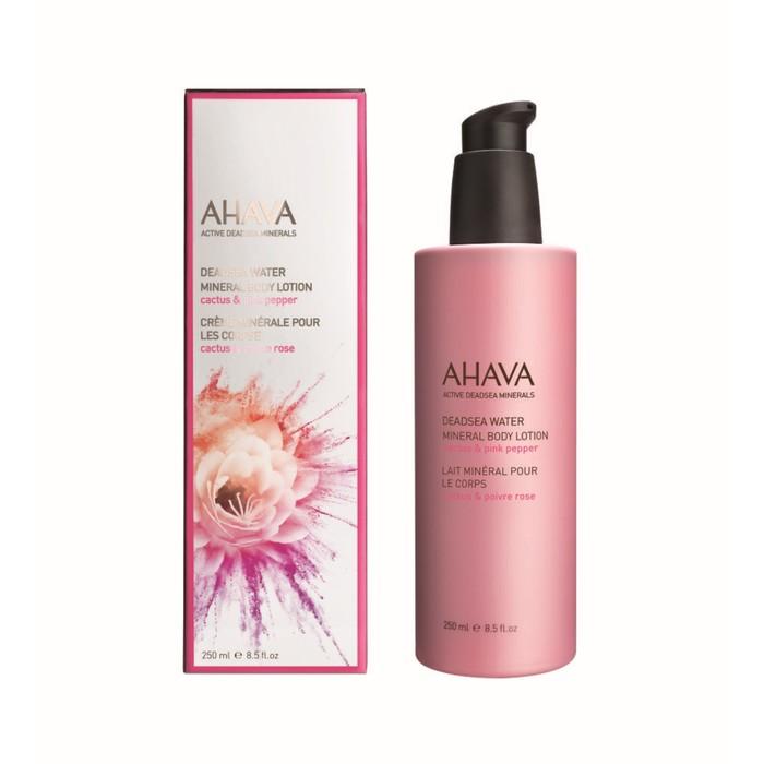 AhaМинеральный крем для тела Ahava Deadsea Water, кактус и розовый перец, 250 мл