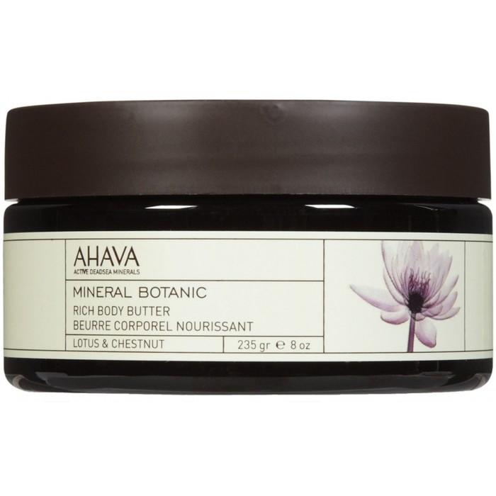 Насыщенное масло для телаAhava Mineral Botanic, лотос и благородный каштан, 235 гр