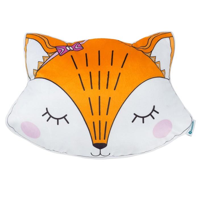 Подушка декоративная Крошка Я «Лисичка», 35 × 27 см, велюр, наполнитель 250 г/м²