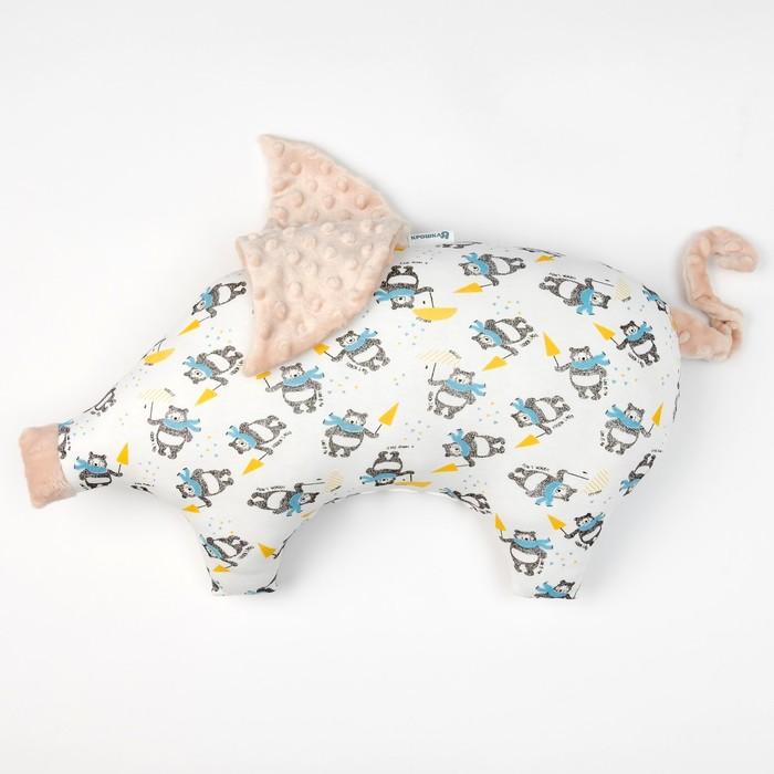 Подушка Крошка Я 45×30 см, цв. бежевый, хлопок/полиэстер