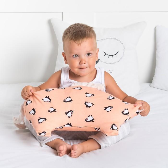 Подушка Крошка Я 45×30 см, цв. молочный, хлопок/полиэстер