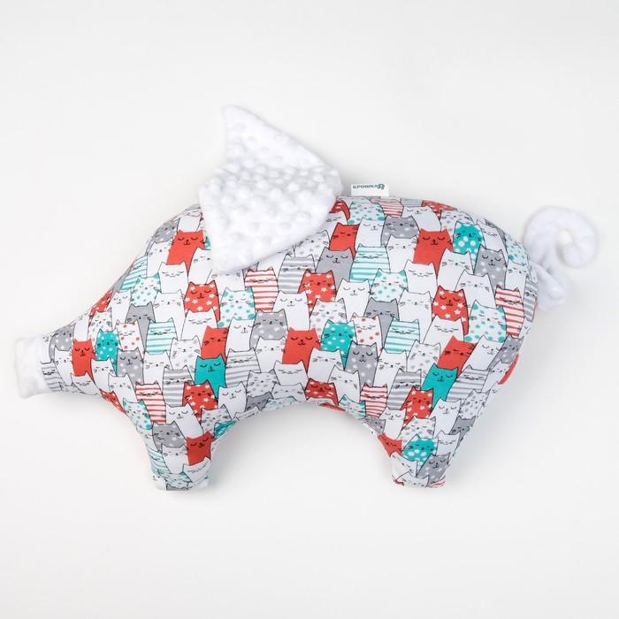 Подушка Крошка Я 45×30 см, цв. белый , хлопок/полиэстер