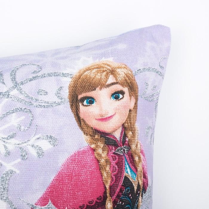 Подушка декоративная Непоседа Холодное сердце Анна и Эльза, 45х45см рогожка хл100%
