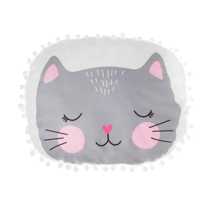 "Подушка ""Крошка Я"" Кошечка 55х45 см, велюр, 100% п/э"