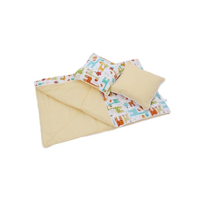 Комплект для вигвама: одеяло-110х140 см, наволочка-40х40 см-2 шт, жёлтый, жираф