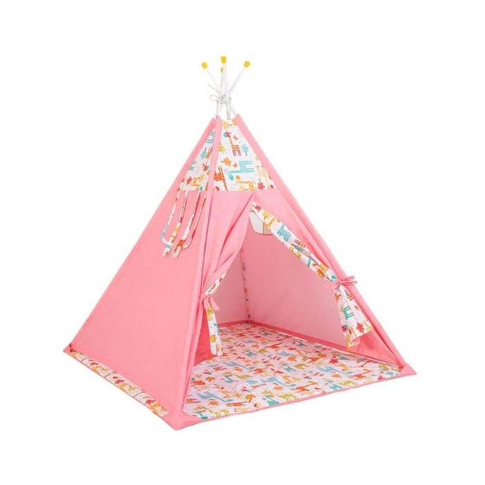 Вигвам «Жираф», размер 130х130 см, высота 147 см, розовый