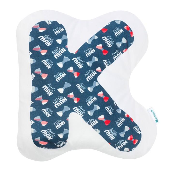 """Подушка """"Крошка Я"""" К, 40х33 см, синий, велюр, 100% п/э"""