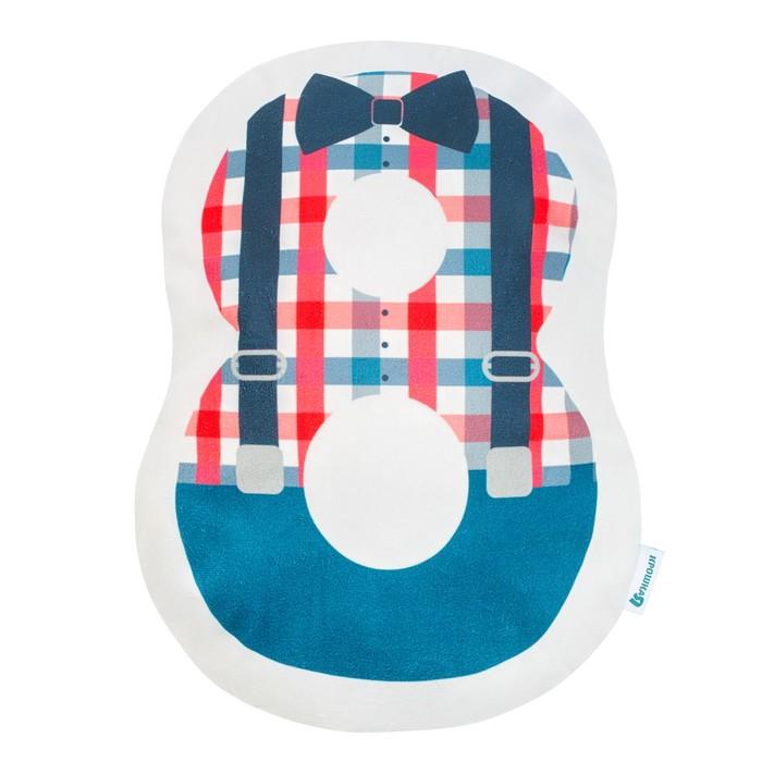 """Подушка """"Крошка Я"""" 8, 40х29 см, синий, велюр, 100% п/э"""