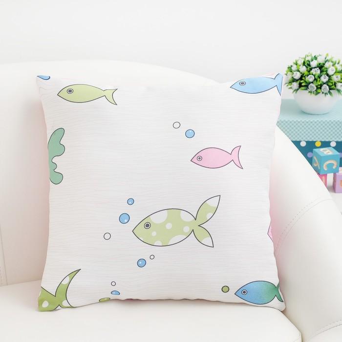 Подушка декоративная Крошка Я «Океан» цвет розовый, 40×40 см, 100% п/э