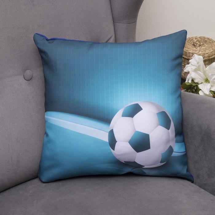 Подушка декоративная Футбол 1, 40х40см, габардин, синтетич. волокно, 160 гр/м