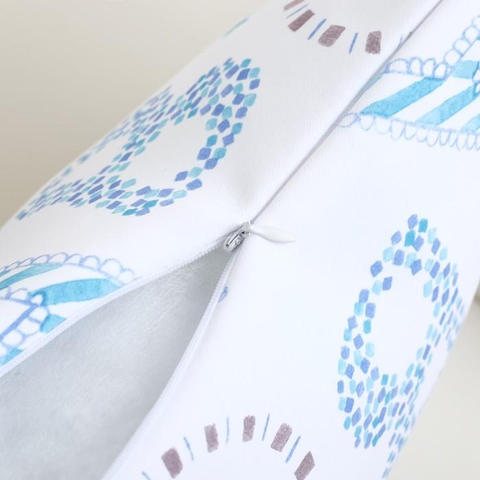 Подушка декоративная Крошка Я «Алфавит», цвет белый, 40 × 40 см, п/э 100 %