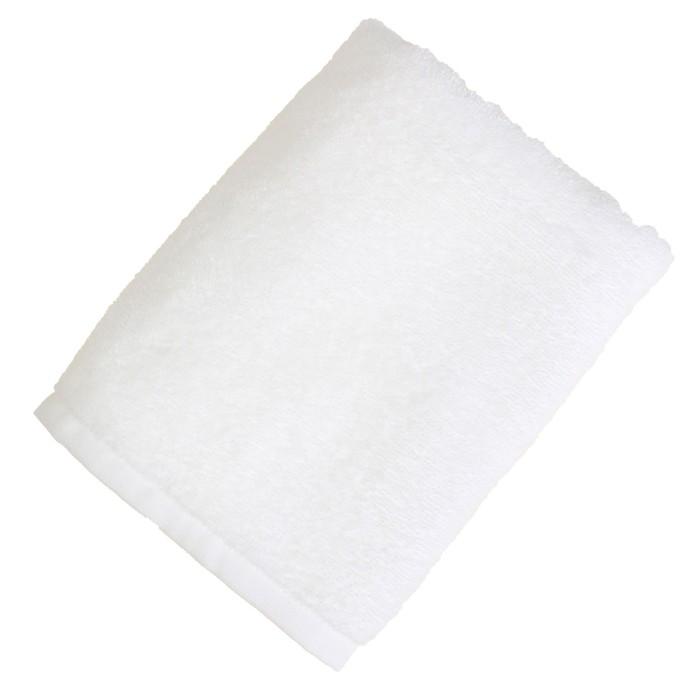 """Полотенце махровое """"Экономь и Я"""" 100х150 см белый, 100% хлопок, 340 г/м²"""