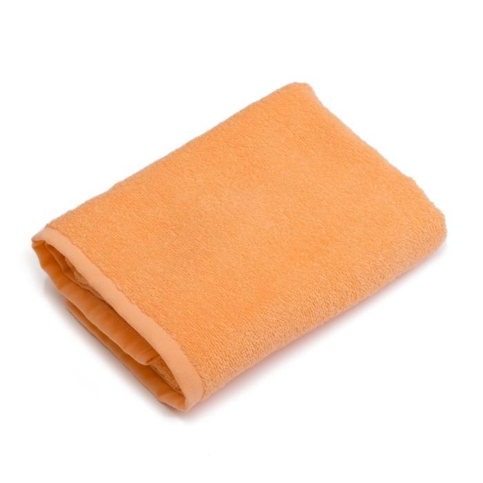 """Полотенце махровое """"Экономь и Я"""" 100х150 см персик, 100% хлопок, 340 г/м²"""