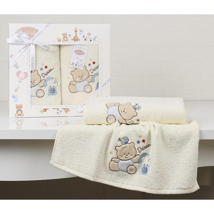 КМП Bambino Bear, 50 × 70 см - 1 шт, 70 × 120 см - 1 шт, кремовый