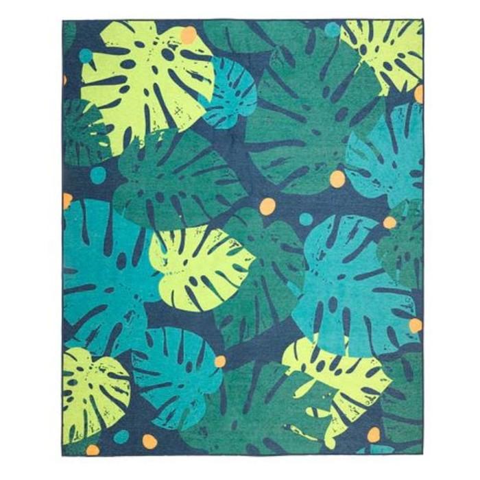 Ковёр УРСКОГ, размер 133х160 см, безворсовый, лист, цвет зелёный