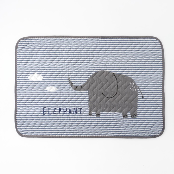 """Коврик детский Крошка Я """"Elephant"""" 40х60 см,хлопок, п/э"""
