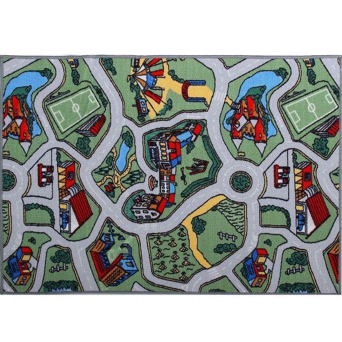 Палас принт Лунапарк, размер 120х100 см, цвет зелёный, полиамид