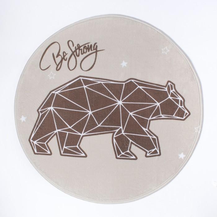 """Ковер детский Крошка Я """"Strong bear"""", d = 70см, велюр, поролон 400г/м2"""