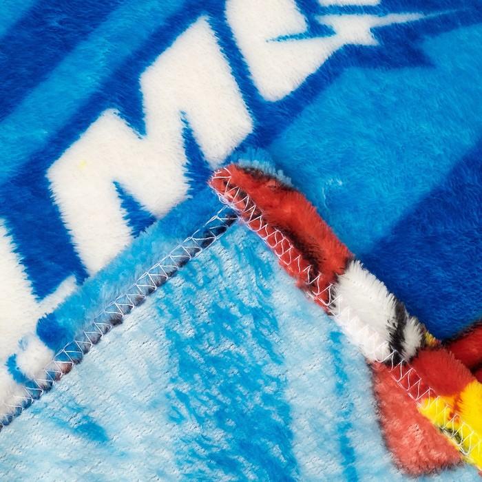 """Плед """"Павлинка"""" Дисней Тачки, 150х200, цвет синий, аэрософт 190 гм, пэ100%"""