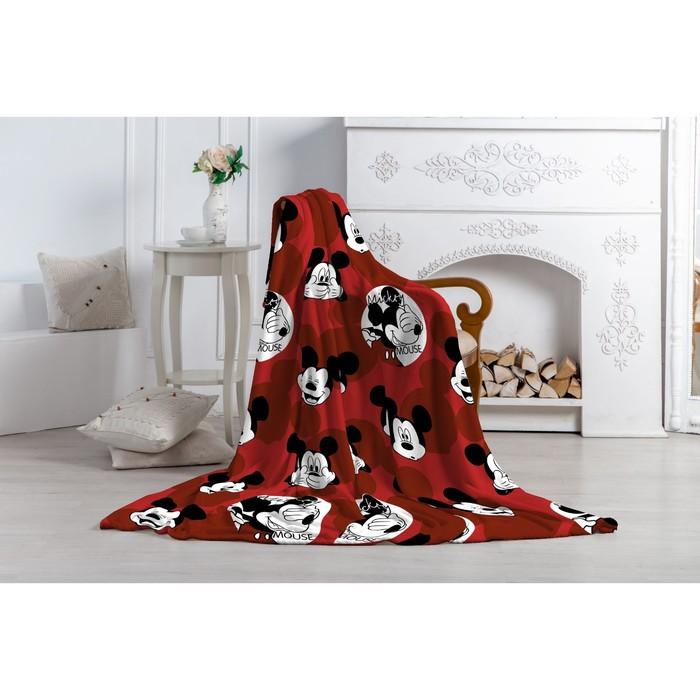 """Плед """"Павлинка"""" Микки Маус, 150х200, цвет красный, аэрософт 190гм, пэ100%"""