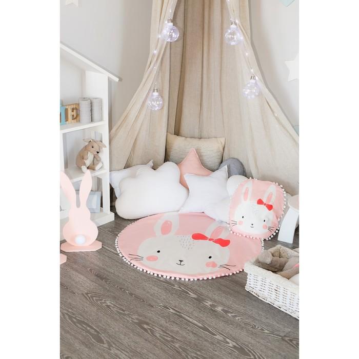 "Одеяло-плед ""Крошка Я"" Зайка 90х90 см, велюр, 100% пэ, синтепон 100г/м2"