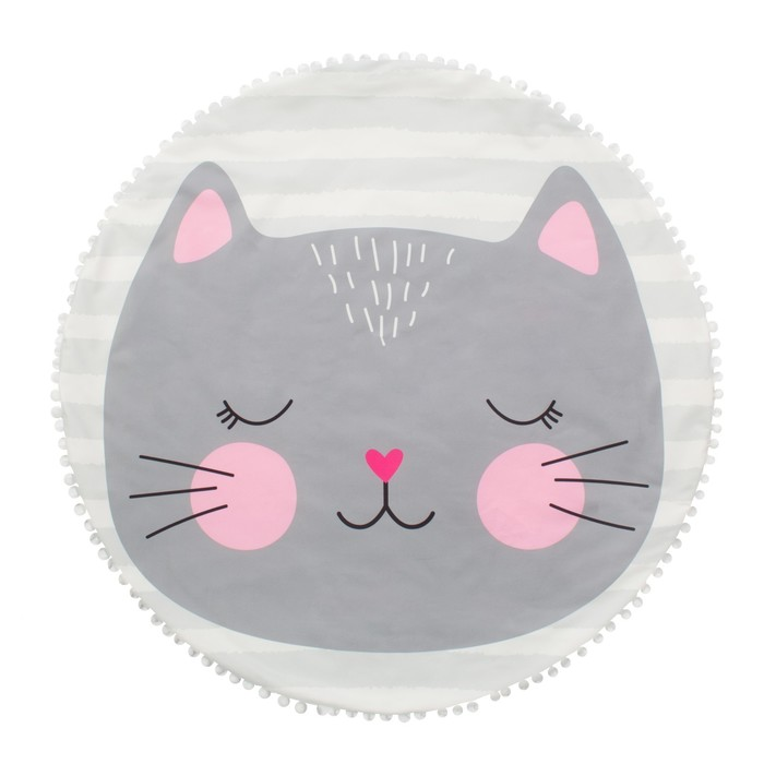 """Одеяло-плед """"Крошка Я"""" Кошечка 90х90 см, велюр, 100% пэ, синтепон 100г/м2"""