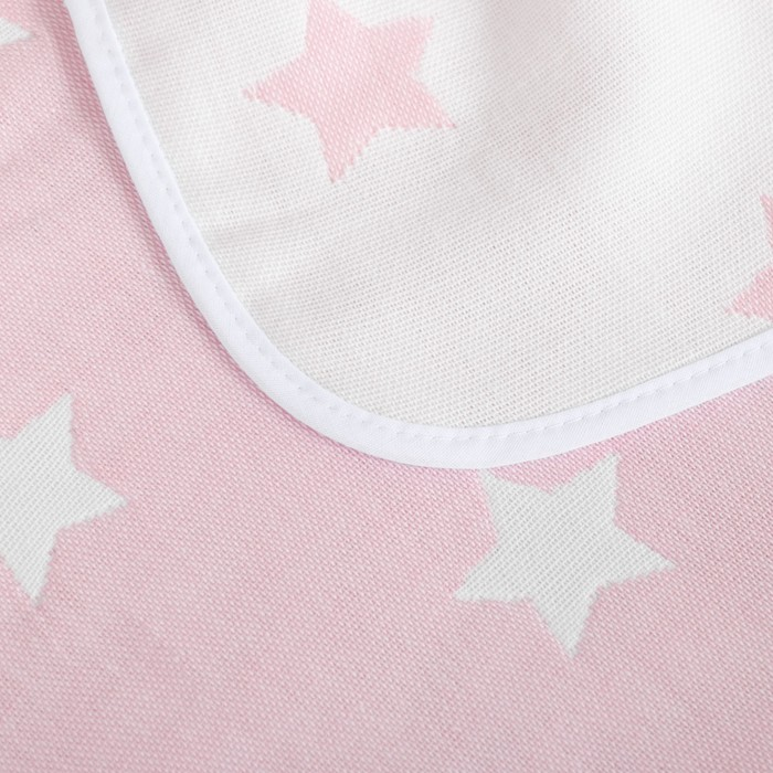 Одеяло детское «Крошка Я» Розовые звёзды 140×200, жаккард, 100% хлопок