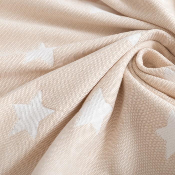 Одеяло детское «Крошка Я» Бежевые звёзды 140×200, жаккард, 100% хлопок