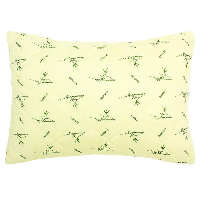 Подушка высокая 40*60см, зел., бамбук/силиконизированное волокно, поплин, хл100%