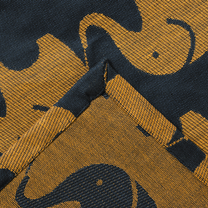 """Покрывало-плед детское """"Этелька"""" Слоники размер 150х215 см, хлопок 100%, цвет синий, 210 г/м²"""