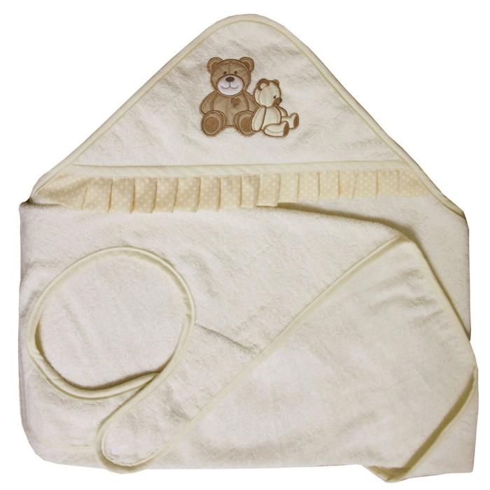 Полотенце-фартук «Плюшевые мишки», размер 100х120 см, цвет бежевый