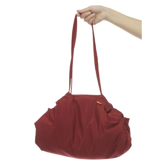 Коврик-сумка, размер 110х110 см (сумка 45х35 см), бордовая клетка KTR02-013