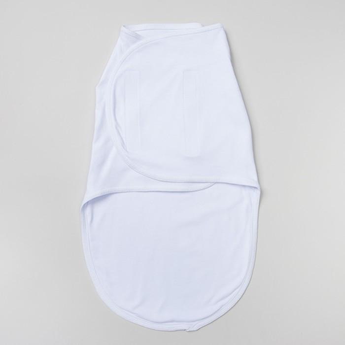 Пеленка-кокон на липучках, рост 50-62 см, цвет белый 1139
