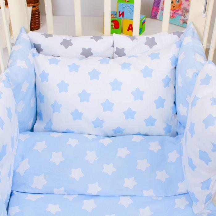"""Комплект в кроватку для мальчика """"Прянички"""" (4 предмета), цвет голубой 10400"""