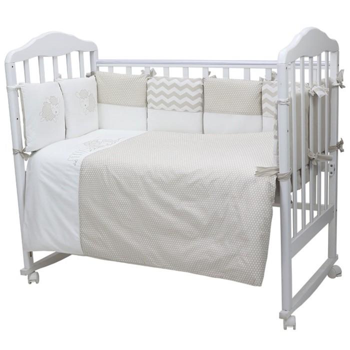 Комплект в кроватку «Долли», 6 предметов, цвет серый 670/8
