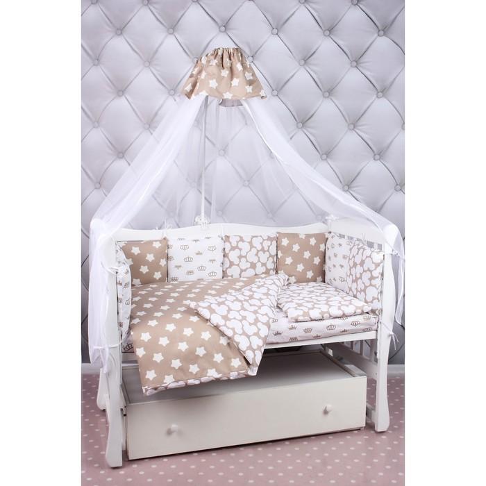 Комплект в кроватку Soft, 19 предметов, бязь, коричневый