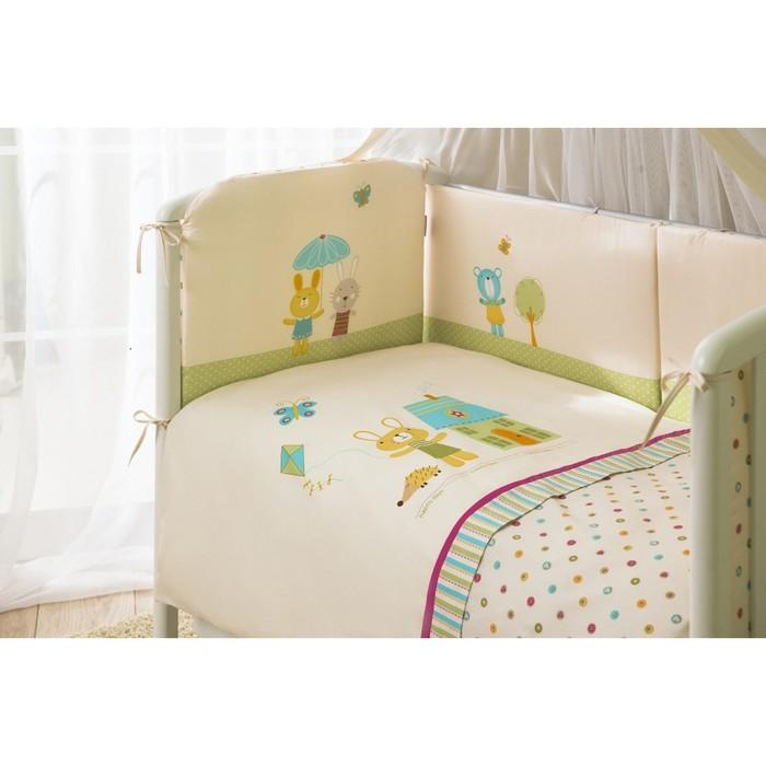 Комплект в кроватку «Глория», 4 предмета, цвет бежевый