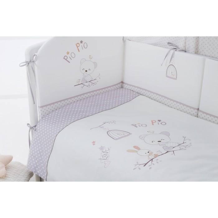 Комплект в кроватку Pio pio, 4 предмета, cатин