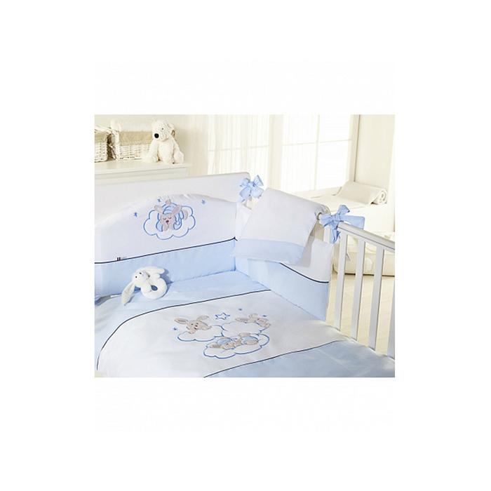 Комплект в кроватку Etoile, 6 предметов, цвет голубой