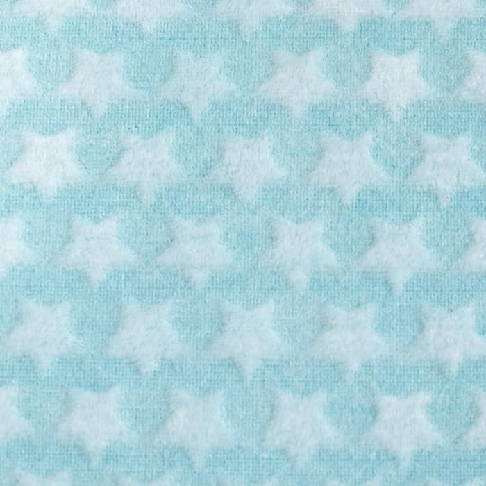 Плед «Звездочки» цвет мятный 80×100 см, пл. 210 г/м², 100% п/э