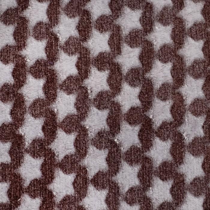 Плед «Звездопад» цвет шоколад 80×100 см, пл. 210 г/м², 100% п/э