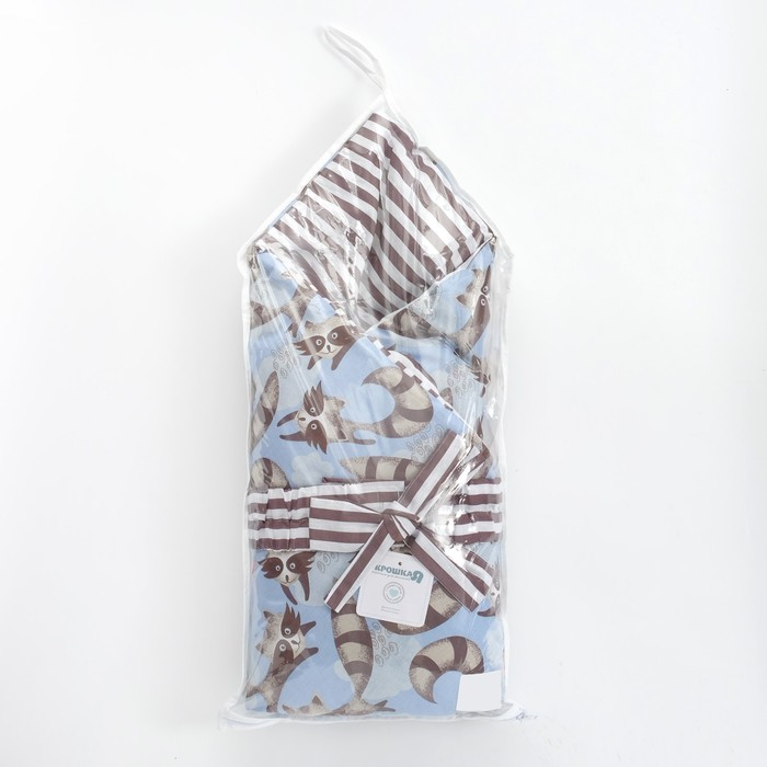 Одеяло (конверт) двустороннее «Еноты», 100 × 100 см, бязь/синтепон