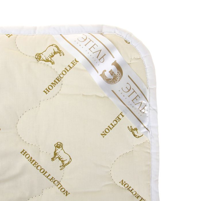 """Одеяло """"Этель"""" Овечья шерсть 110*140 см, тик, 300 гр/м2"""