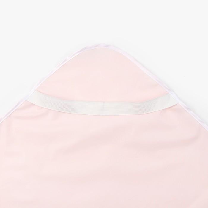 """Наматрасник на резинке """"дышащий"""", 70*120 см, цвет розовый"""