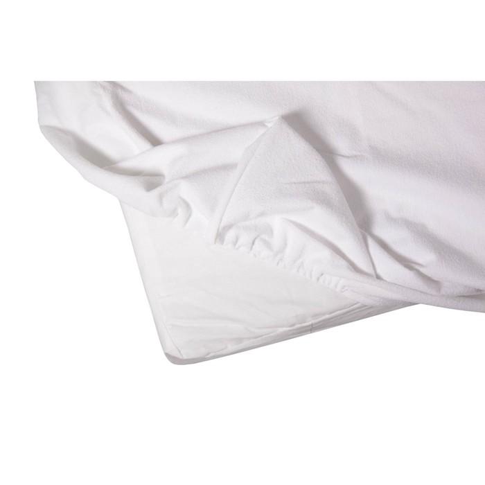 Наматрасник, размер 60х120 см, белый, махра