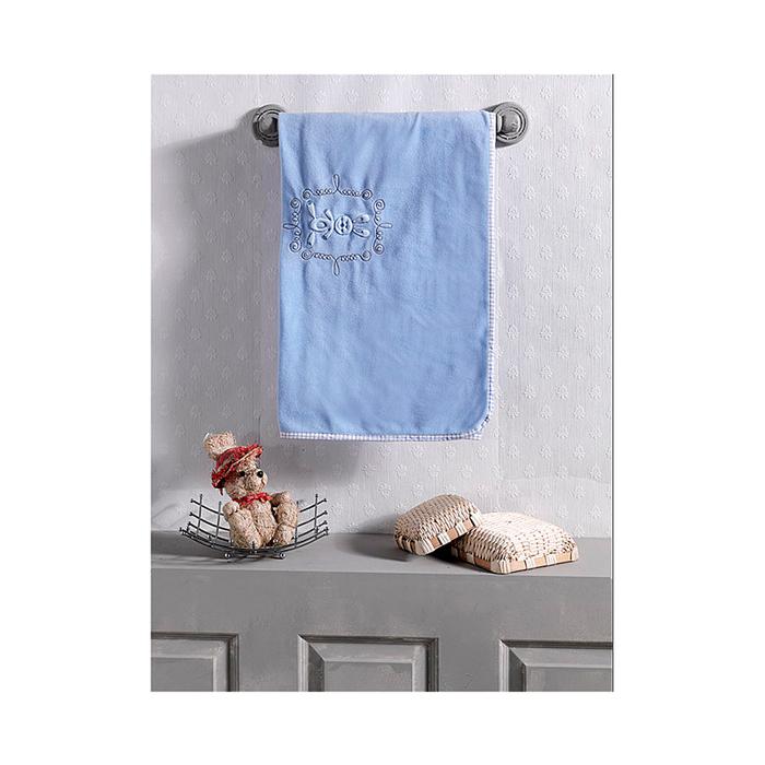 Плед Rabbito, размер 80х120 см, цвет голубой, флис
