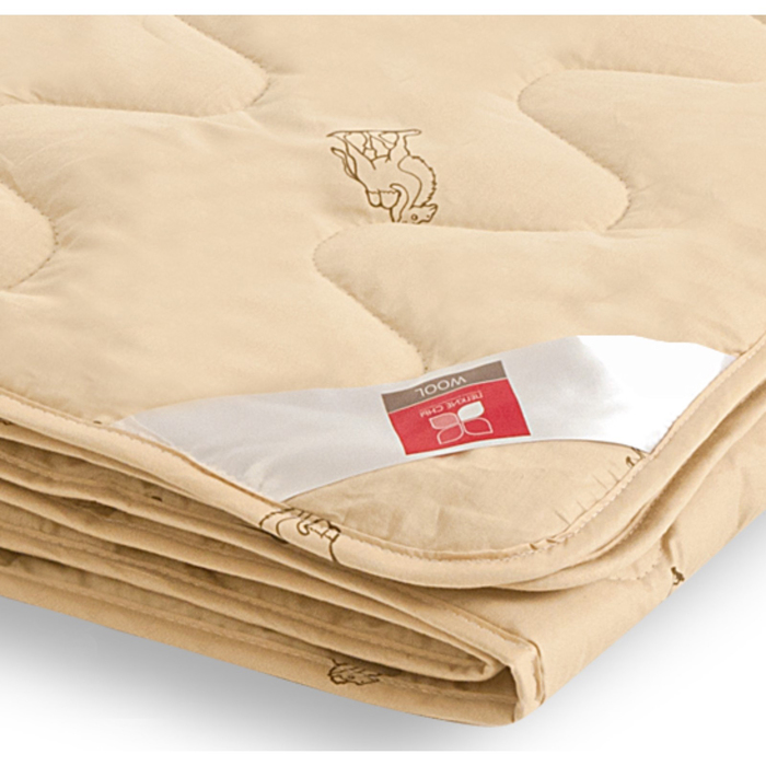 """Одеяло лёгкое """"Верби"""", размер 110х140 см, тик, бежевый"""