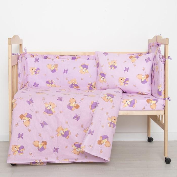 """Комплект """"Мишки с медом"""" (4 предмета), цвет фиолетовый 41/1"""
