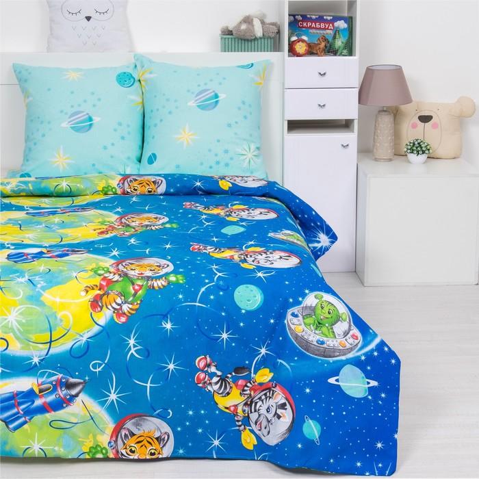 Детское постельное бельё 1,5 сп. «Космошарики»